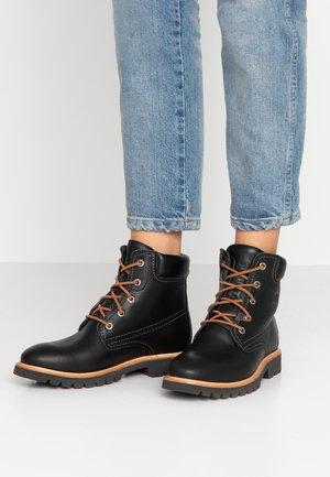 GINETTE - Šněrovací kotníkové boty - black