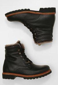 Panama Jack - AVIATOR IGLOO - Lace-up ankle boots - black - 1