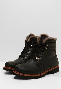 Panama Jack - AVIATOR IGLOO - Lace-up ankle boots - black - 2
