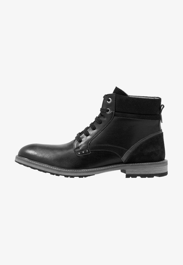 PIZZOLI UOMO HIGH - Šněrovací kotníkové boty - black