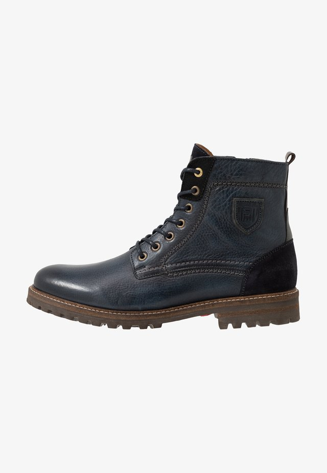 PONZANO UOMO HIGH - Lace-up ankle boots - dress blues