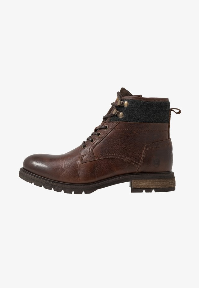 LEVICO UOMO HIGH - Lace-up ankle boots - coffee bean