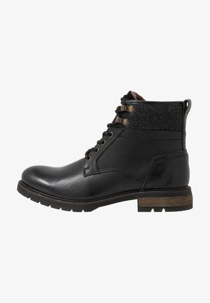 LEVICO UOMO HIGH - Lace-up ankle boots - black