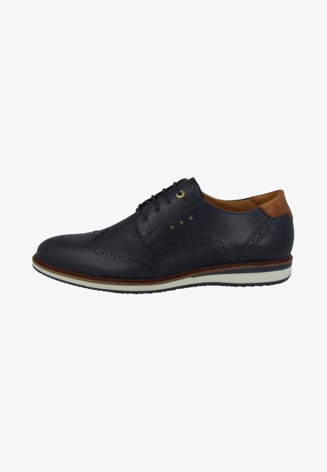 RUBICON UOMO LOW - Casual lace-ups - blue