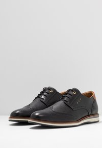 Pantofola d'Oro - RUBICON UOMO LOW - Casual lace-ups - black - 2