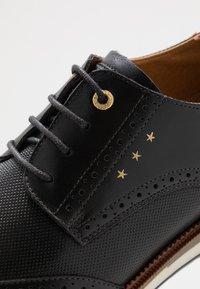 Pantofola d'Oro - RUBICON UOMO LOW - Casual lace-ups - black - 5