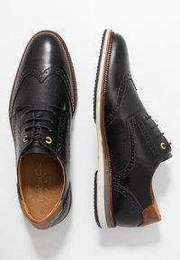 Pantofola d'Oro - RUBICON UOMO LOW - Casual lace-ups - black - 1
