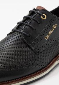 Pantofola d'Oro - RUBICON UOMO LOW - Nauhakengät - black - 5