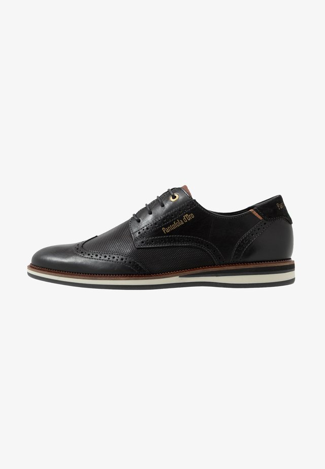 RUBICON UOMO LOW - Nauhakengät - black