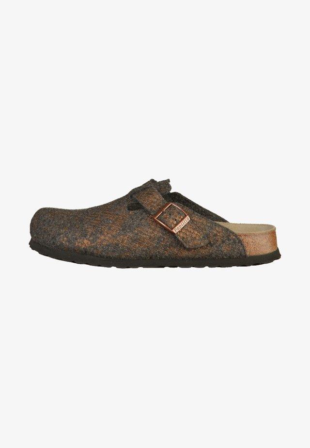 BOSTON - Slippers - shiny felt anthracite