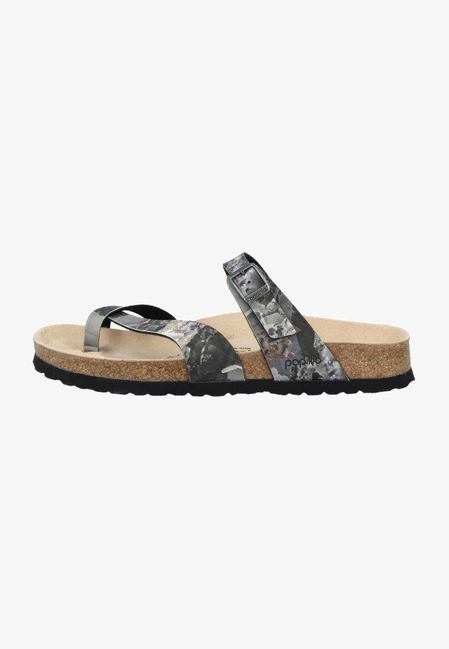 TABORA BIRKO - T-bar sandals - grey