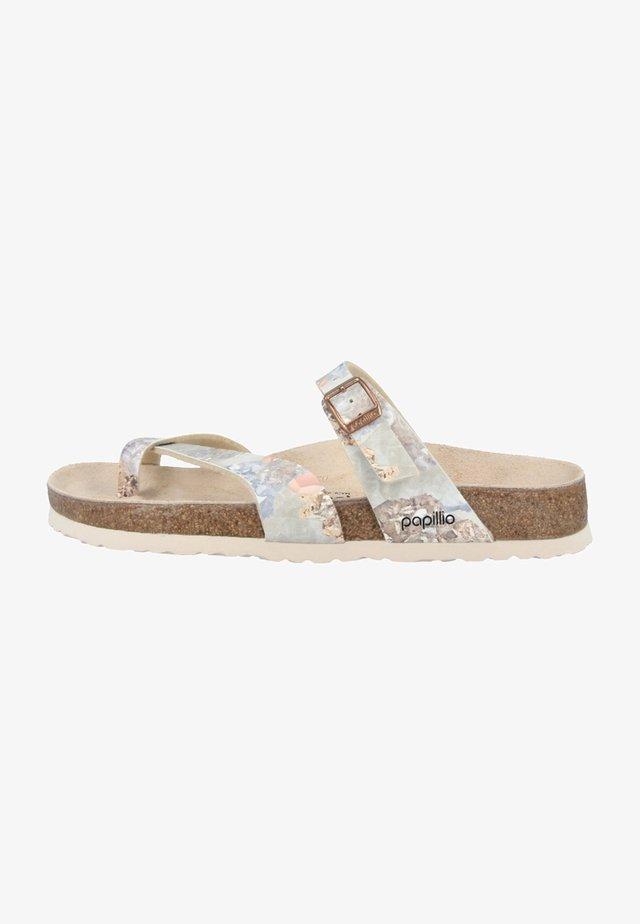 TABORA BIRKO - T-bar sandals - crystal rose