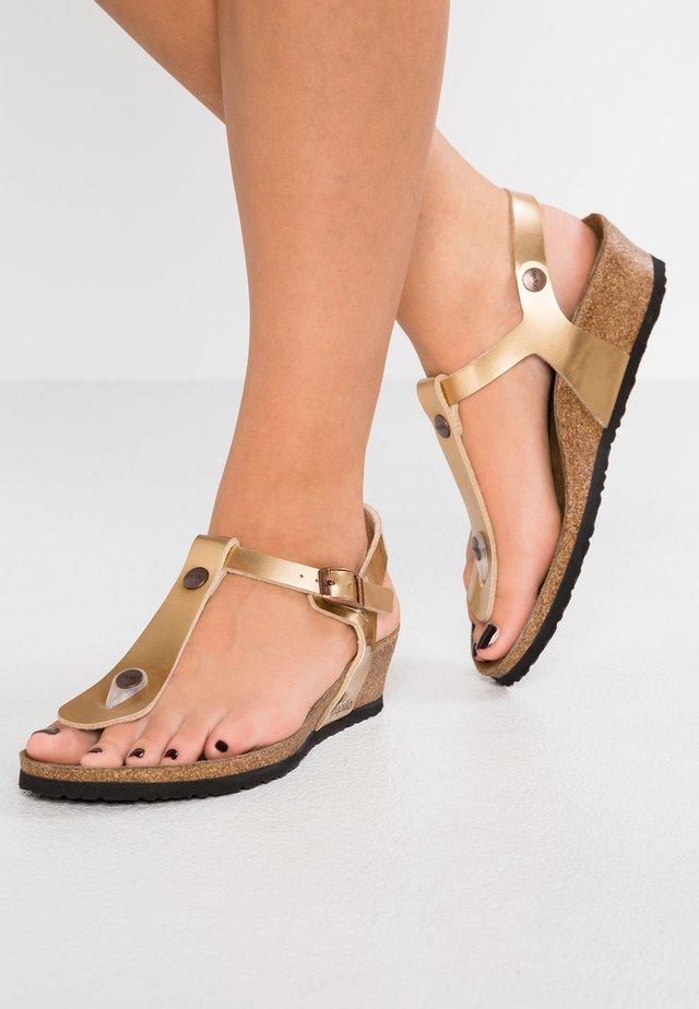 ASHLEY REGULAR FIT - T-bar sandals - metallic copper