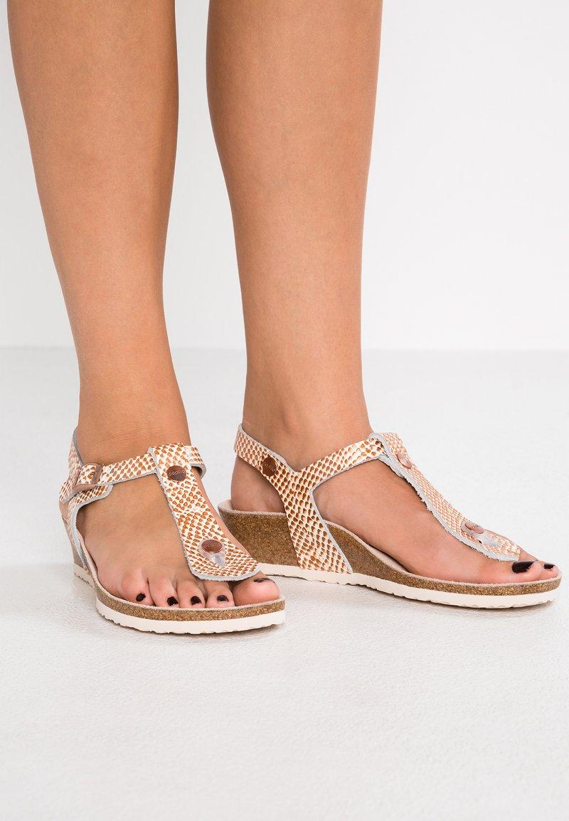 Papillio - ASHLEY REGULAR FIT - T-bar sandals - cream