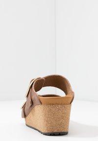 Papillio - NORA - Pantofle na podpatku - cognac - 5
