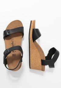 Papillio - SOLEY - Sandály na klínu - black - 3