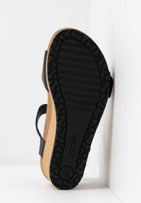 Papillio - SOLEY - Sandály na klínu - black - 6