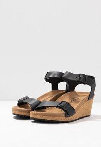 Papillio - SOLEY - Sandály na klínu - black - 4
