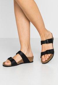 Papillio - TESSA - Pantofle - black - 0