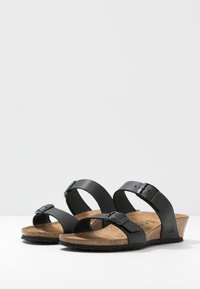 Papillio - TESSA - Pantofle - black - 4