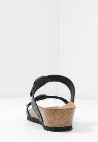 Papillio - TESSA - Pantofle - black - 5