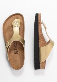 Papillio - GIZEH - Sandály s odděleným palcem - metallic gold - 3