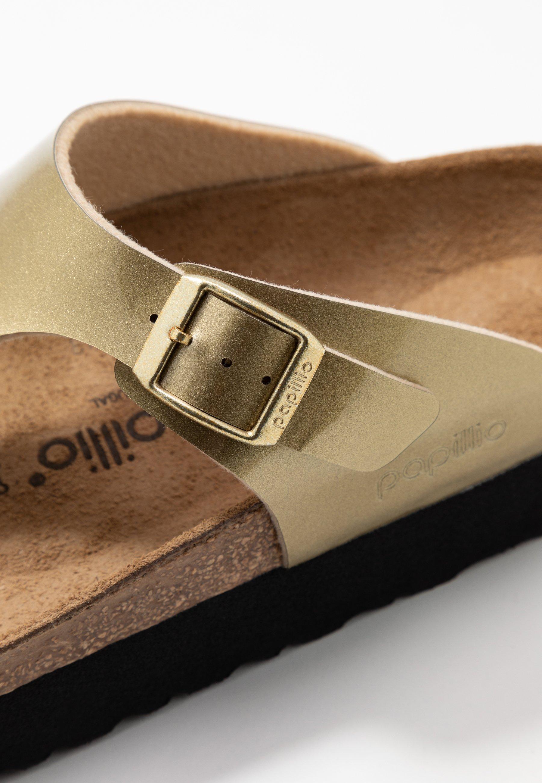 Papillio GIZEH - T-bar sandals - metallic gold