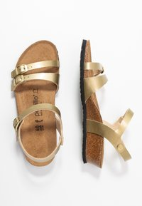 Papillio - LANA - Sandály na klínu - metallic gold - 3