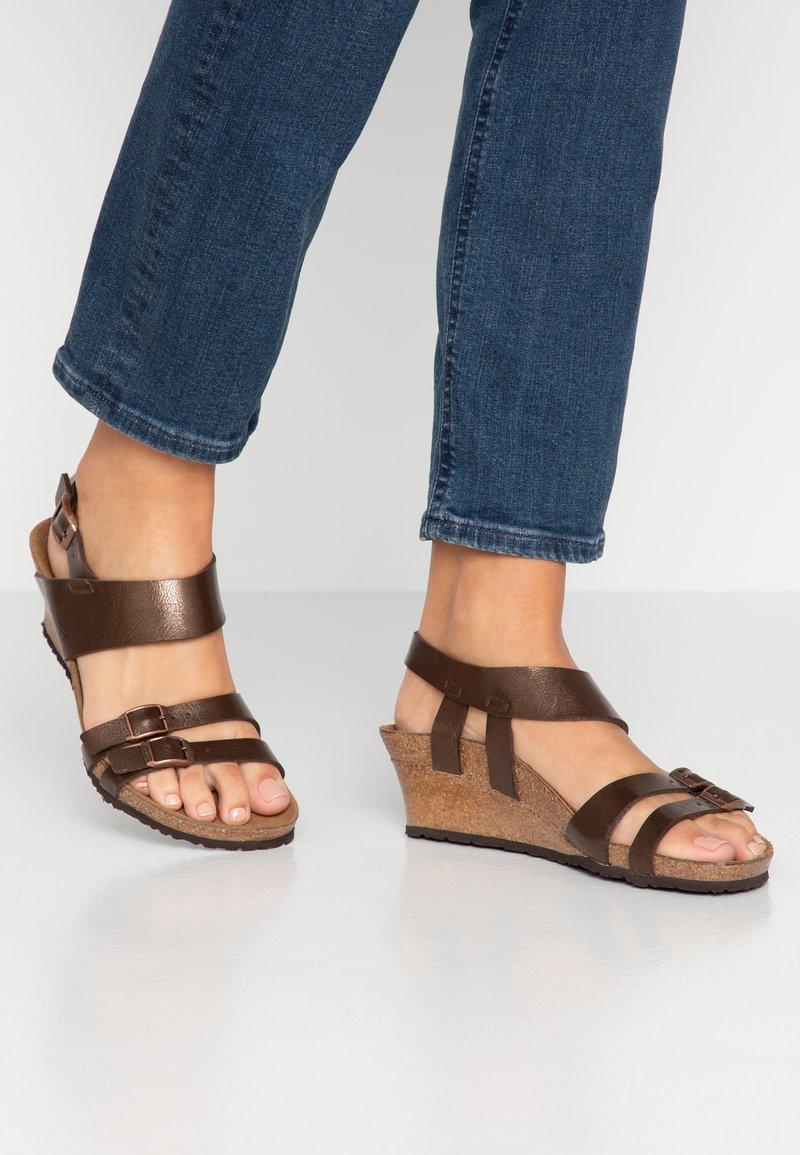 Papillio - ELLEN - Wedge sandals - graceful toffee