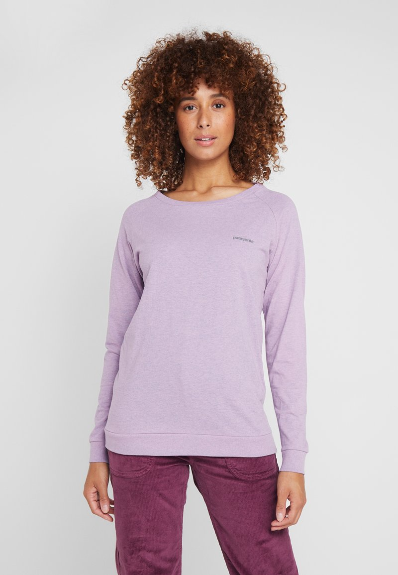 Patagonia - LOGO RESPONSIBILI TEE - Long sleeved top - verbena purple
