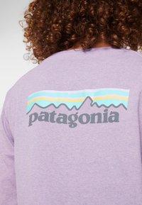 Patagonia - LOGO RESPONSIBILI TEE - Long sleeved top - verbena purple - 5
