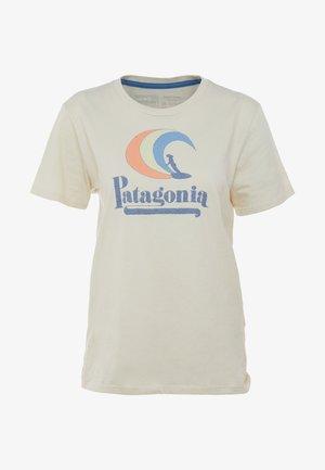 ON RAIL ORGANIC CREW  - T-shirt print - oyster white