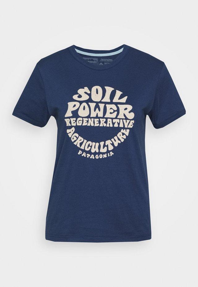 ROAD TO REGENERATIVE RINGER TEE - T-Shirt print - stone blue