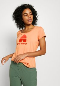 Patagonia - LIVE SIMPLY HIVE SCOOP - T-shirts med print - scotch pink - 3