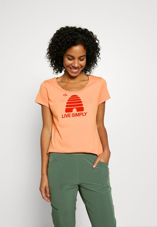 LIVE SIMPLY HIVE SCOOP - T-shirt med print - scotch pink