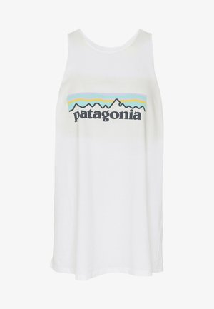 LOGO ORGANIC HIGH NECK TANK - Topper - white