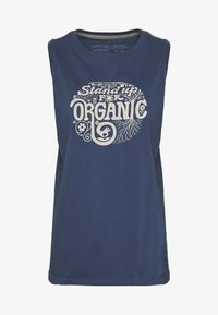 Patagonia - ROOT REVOLUTION MUSCLE TEE - Topper - stone blue - 4