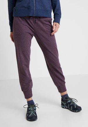 AHNYA PANTS - Tracksuit bottoms - deep plum