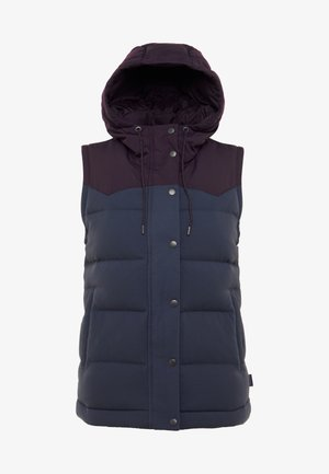 BIVY HOODED - Vest - smolder blue /deep plum