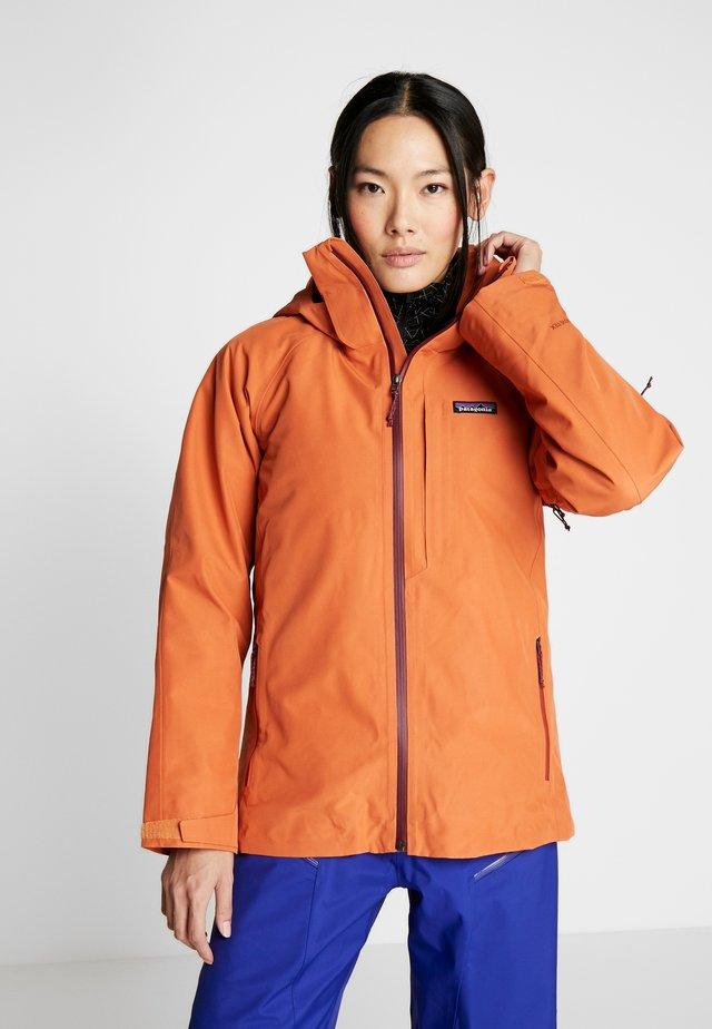 INSULATED POWDER BOWL  - Snowboardjacka - sunset orange