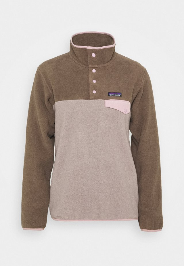 SYNCH SNAP - Fleece jumper - furry taupe