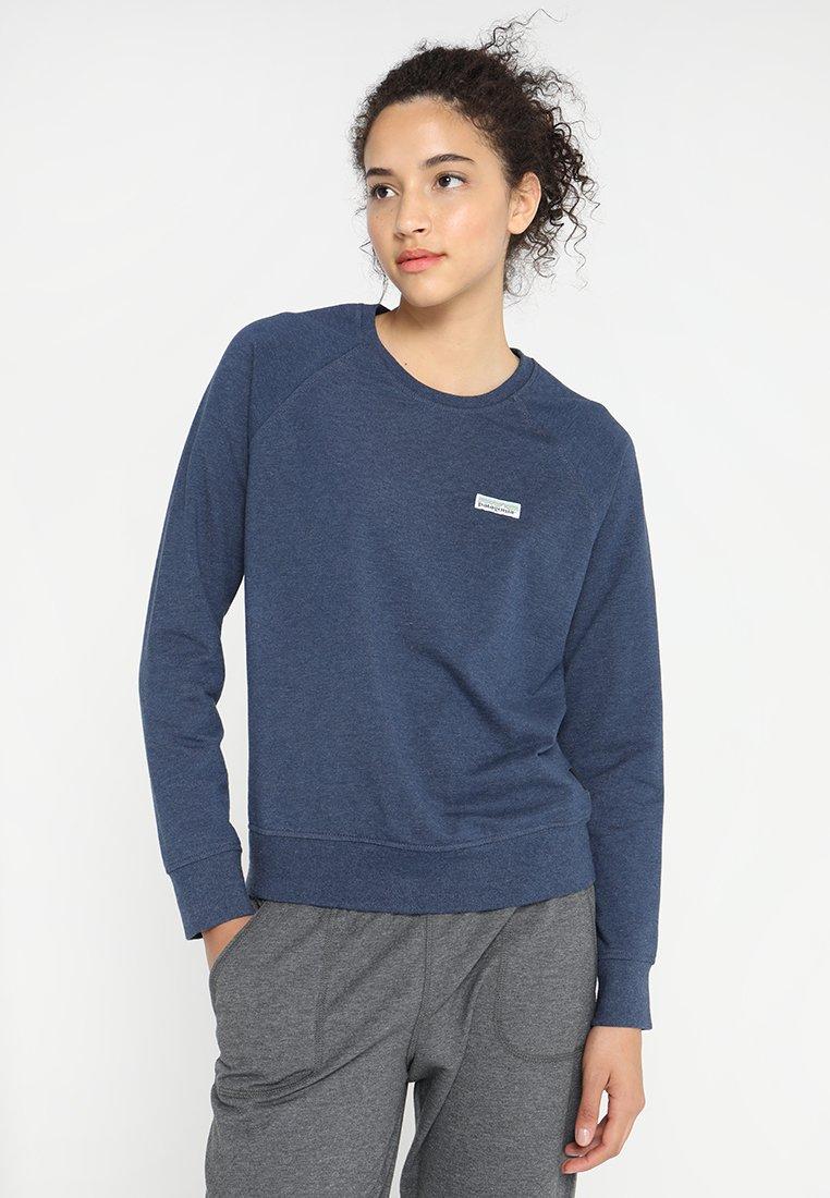 Patagonia - PASTEL LABEL AHNYA CREW - Sweatshirt - stone blue