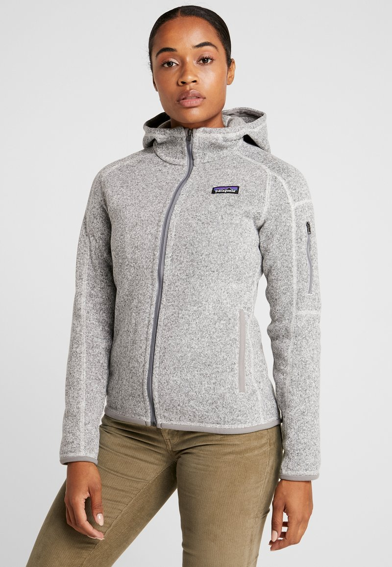 Patagonia - BETTER SWEATER HOODY - Fleecová bunda - birch white