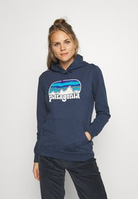 Patagonia - FITZ ROY FAR OUT AHNYA HOODY - Hoodie - stone blue - 0