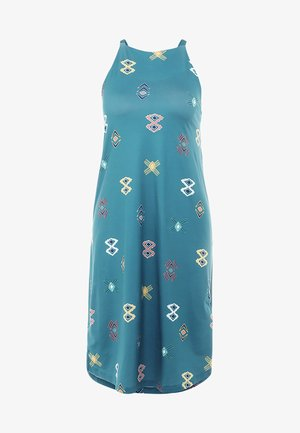 SLIDING ROCK DRESS - Trikoomekko - spaced out/tasmanian teal
