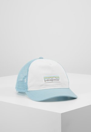 LABEL LAYBACK TRUCKER HAT - Kšiltovka - white/big sky blue