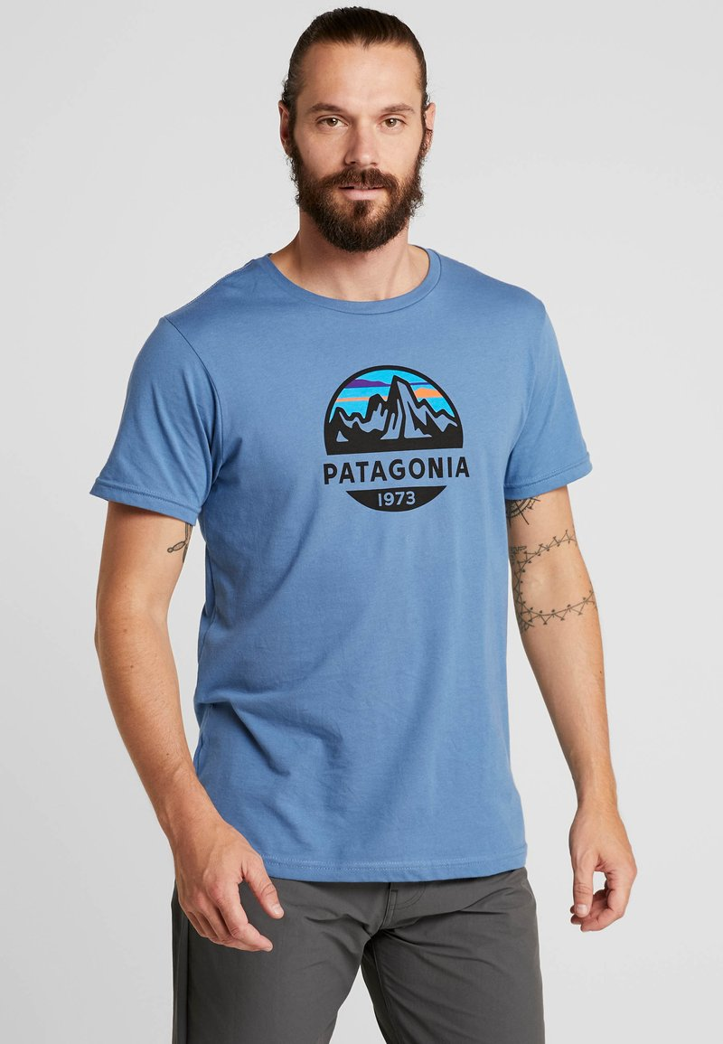 Patagonia - FITZ ROY SCOPE  - Print T-shirt - woolly blue