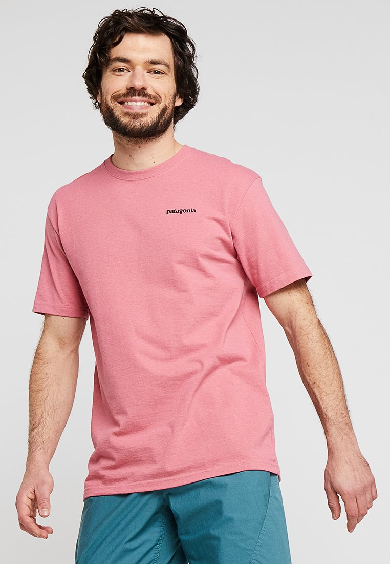 Patagonia - LOGO RESPONSIBILI TEE - T-Shirt print - sticker pink