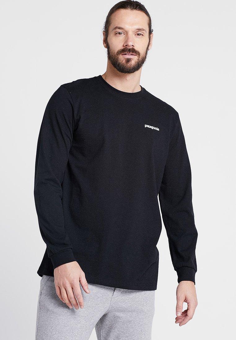 Patagonia - LOGO RESPONSIBILI TEE - Langarmshirt - black