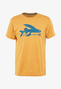 Patagonia - FLYING FISH - T-shirt med print - glyph gold - 3